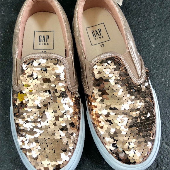GAP Shoes | Gap Kids Rose Gold Sequin